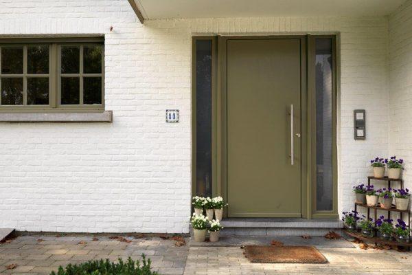 strakke houten deur