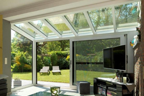 veranda glazen dak